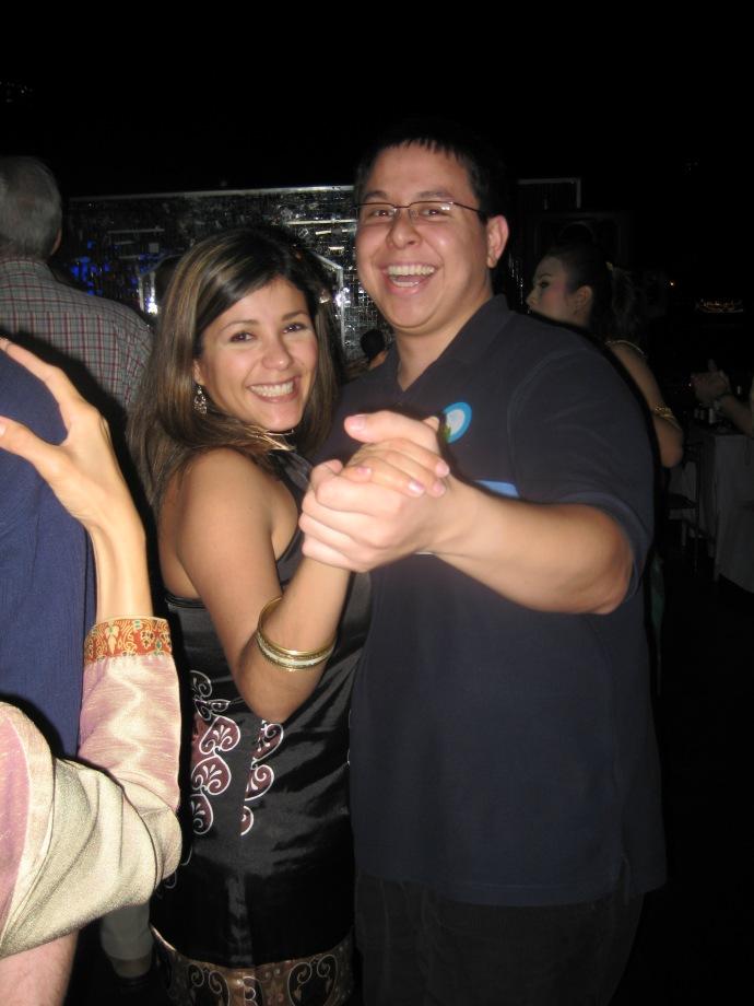 Johanna and Joshua dancing
