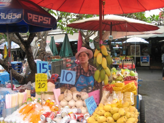 Market outside of the Grand Palace