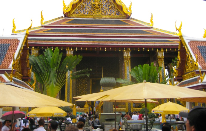 At the Grand Palace in Bangkok