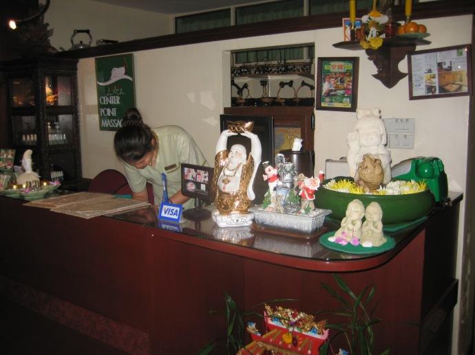 At the foot massage parlor