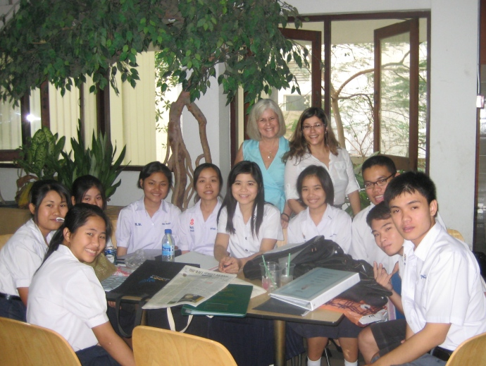 Me with Johanna and students at Chulalongkorn University