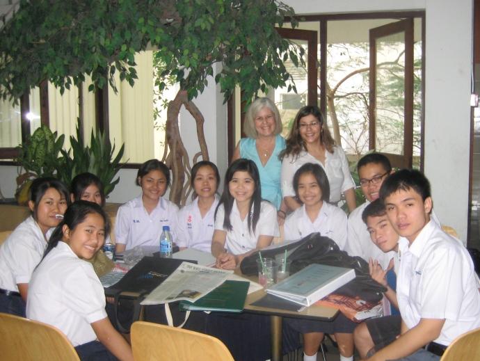 Me with Johanna and students at Chulalongkorn University
