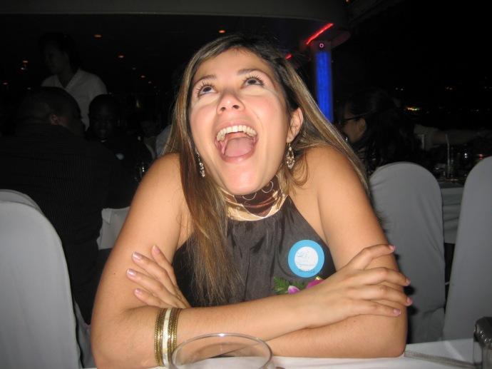 Johanna having a good time :-)