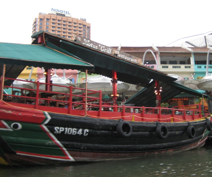 a floating restaurant