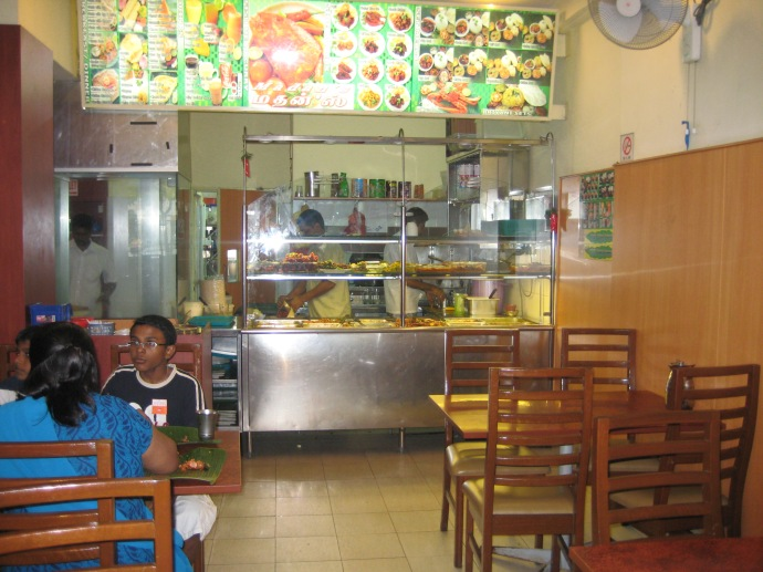 Inside Madan's.  The table on the right is where we sat.