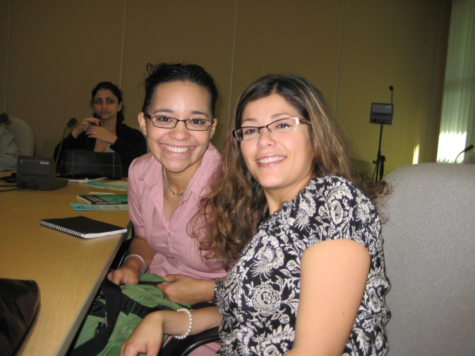 Luz and Johanna at ISEAS