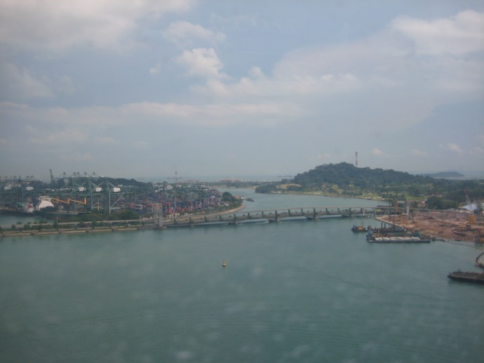 View of Sentosa from the Singapore Cable Car