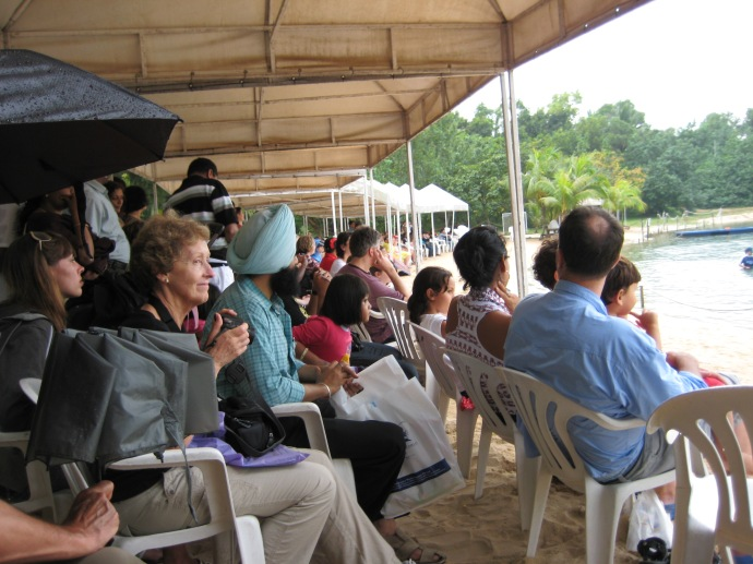 Spectators at Dolphin Lagoon