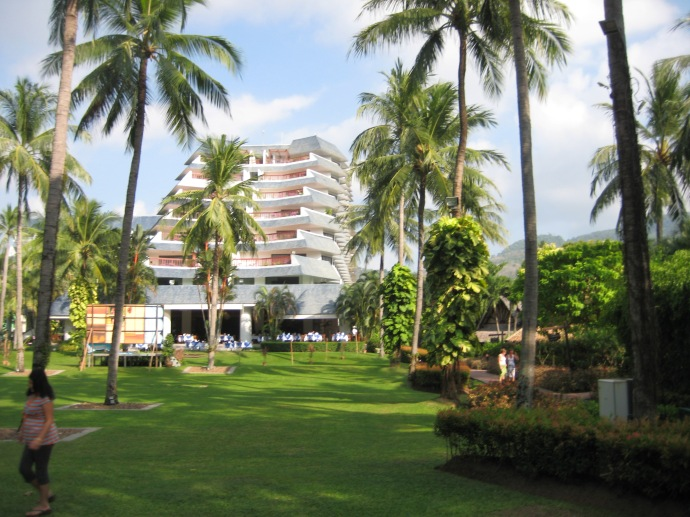 the grounds of Club Andaman Beach Resort