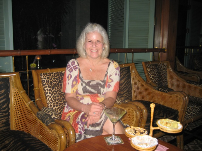 me at the Bamboo Bar at the Mandarin Oriental Bangkok