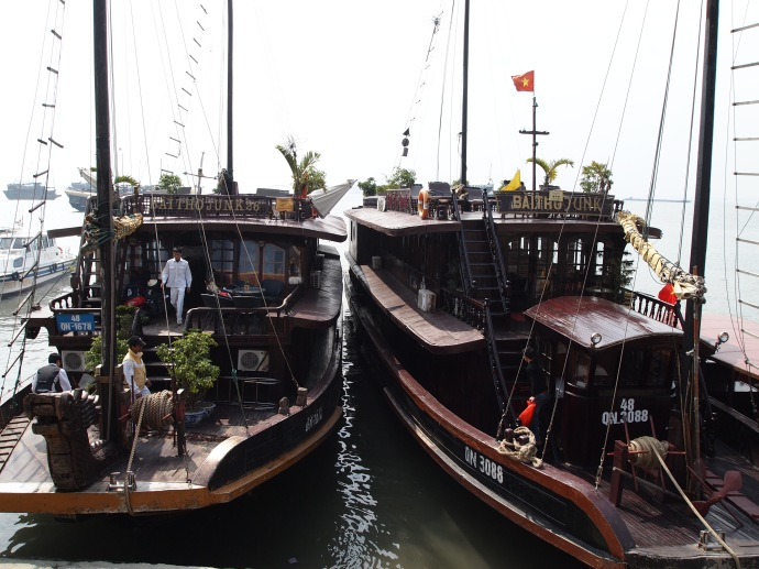 some fellow junks on halong bay