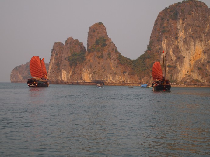 happiness on halong bay