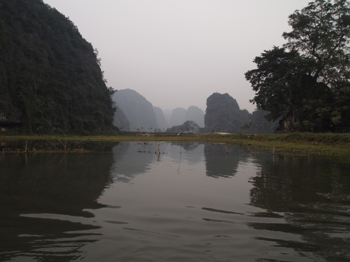 on the river at tam coc