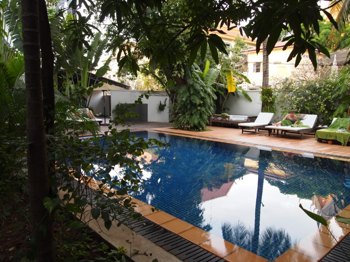 the pool at the villa langka in phnom penh