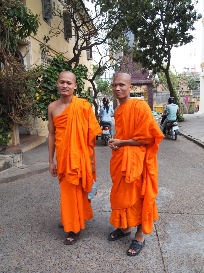 two nice monks i meet outside of wat langka