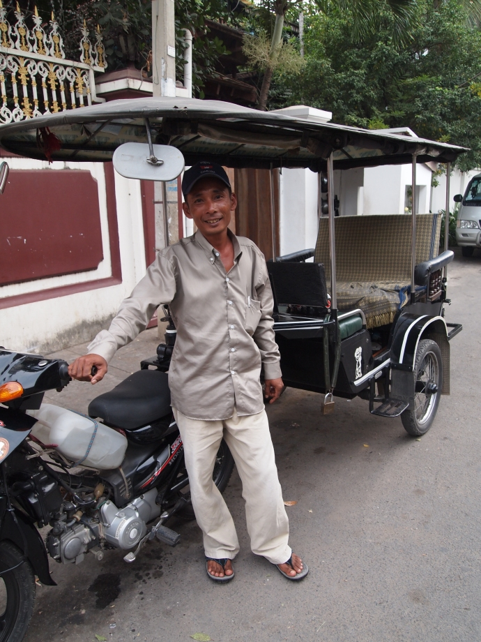 mr. lo and his tuk-tuk