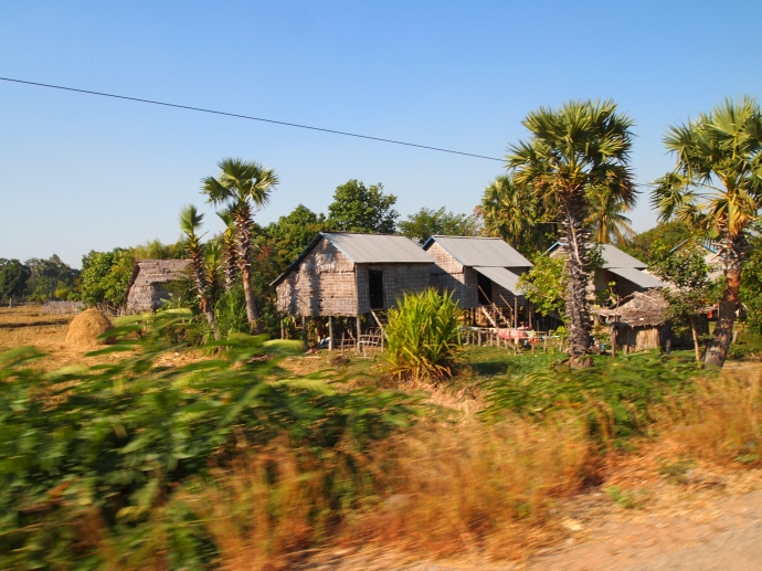 on the road to beng mealea ~ houses on stilts