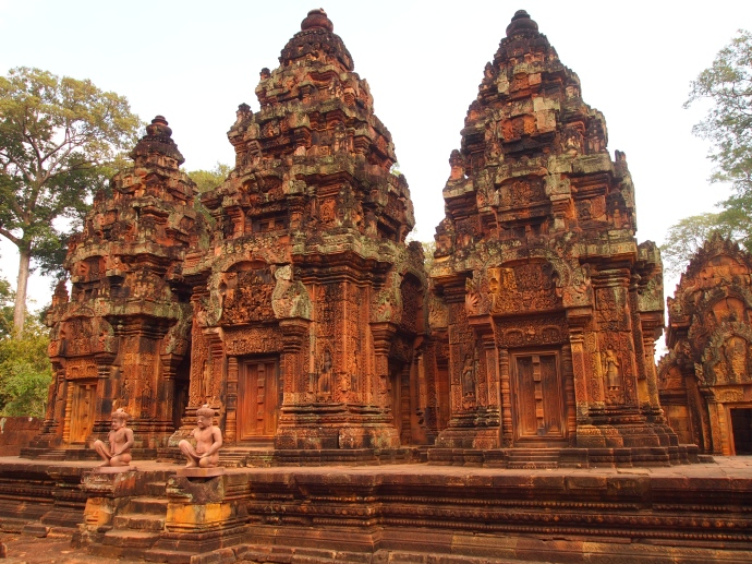the rose-colored banteay srei