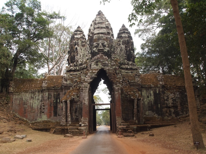 the west gate of preah khan