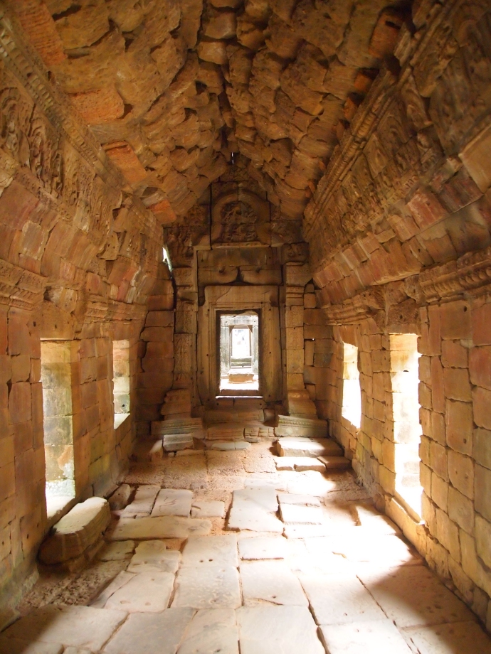 vaulted corridors at Preah Khan