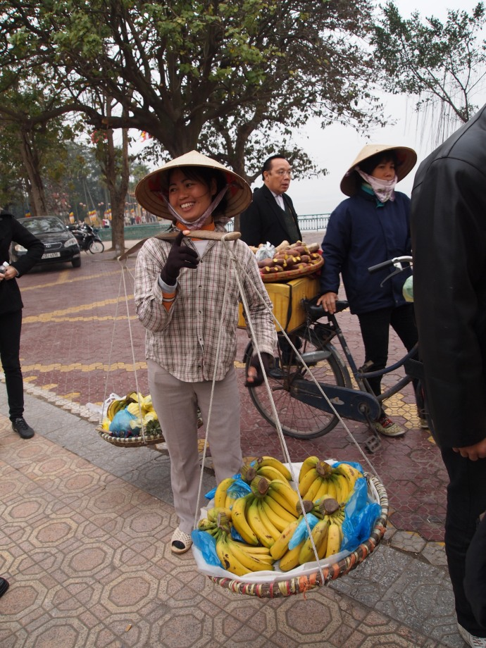 "the vietnamese lady who makes the ""sympathy sale"" of her bananas to me"