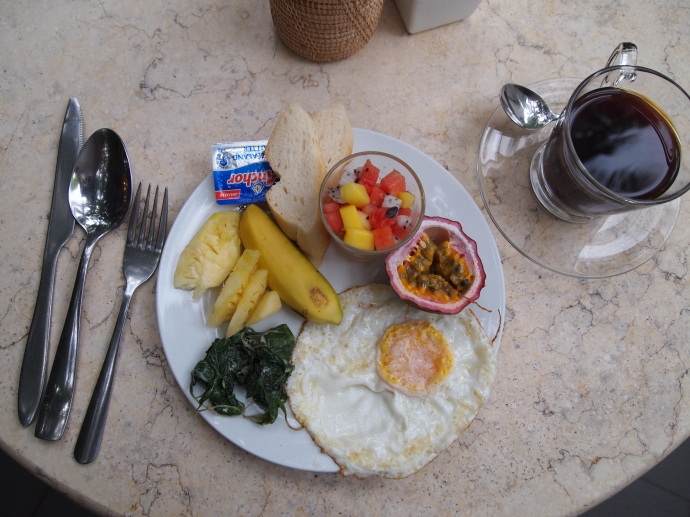 breakfast at the villa langka ~ I love this place:-)