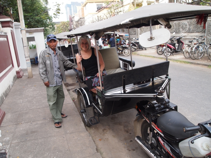 mr. lo and me in his tuk tuk