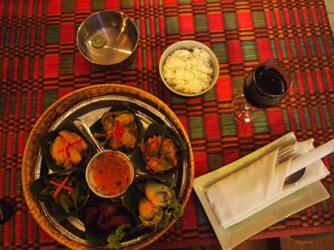 sampler for one at the angkor palm