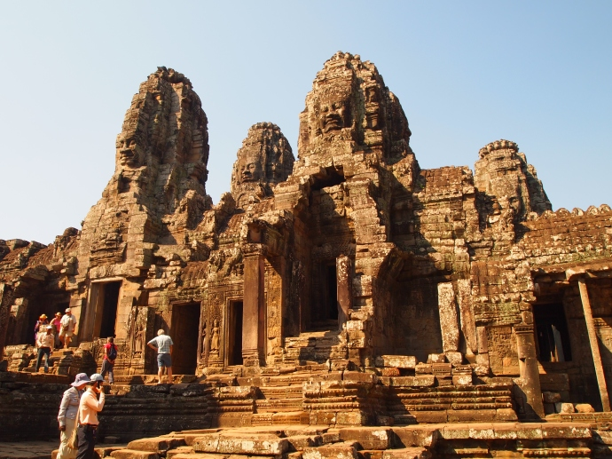 the bayon, where the faces of the king stare down on you from every angle