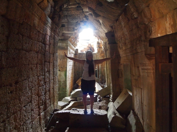 corridors of jumbled stone at Ta Prohm
