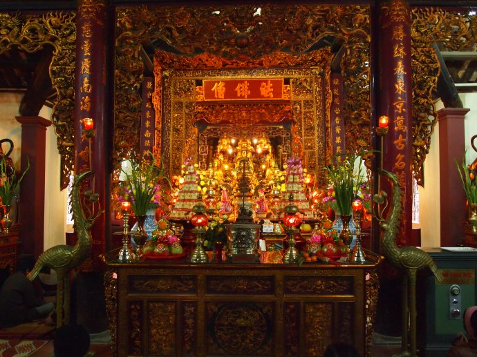 temple at Tran Quoc Pagoda