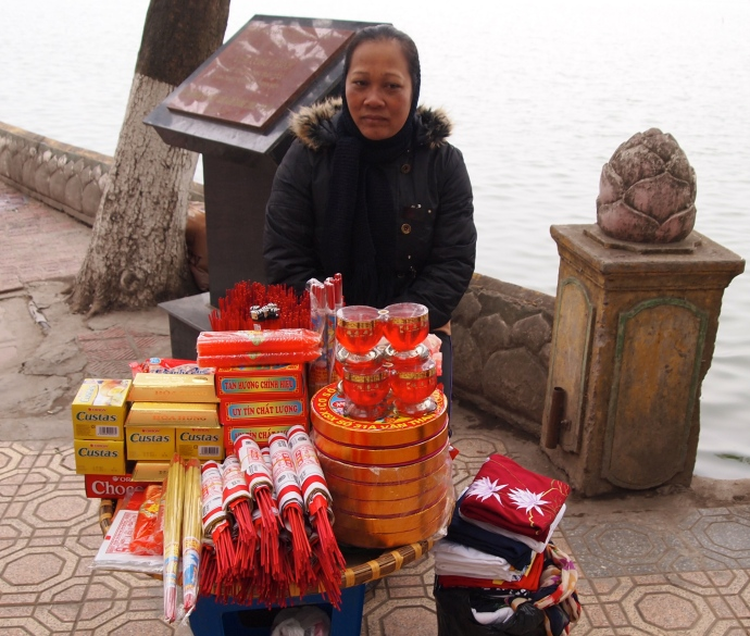 another local Vietnamese woman selling goods