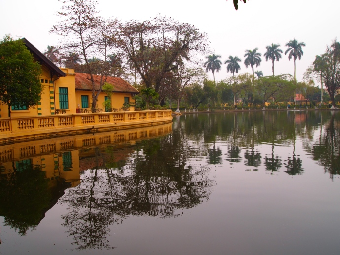 the carp pond at the Ho Chi Minh complex