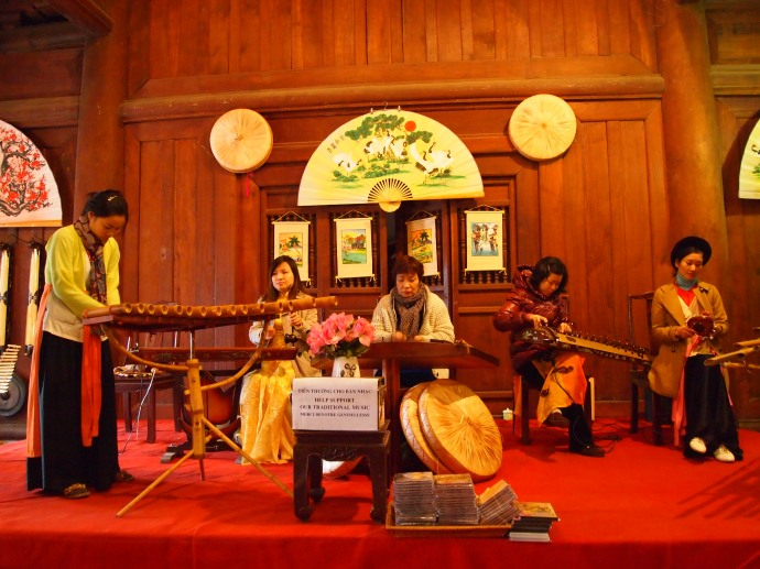 Musicians perform at the The Temple of Literature