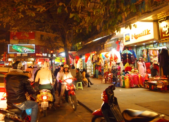 night streets of Hanoi