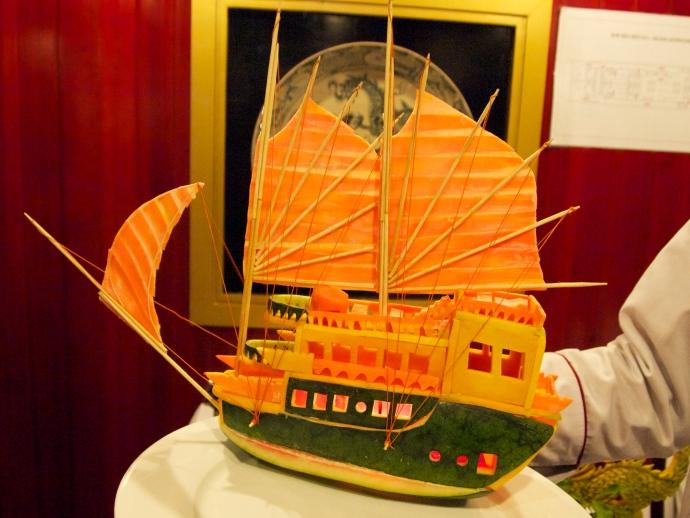 the watermelon sailing ship :-)