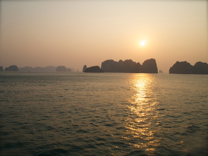 Sunrise on Halong Bay
