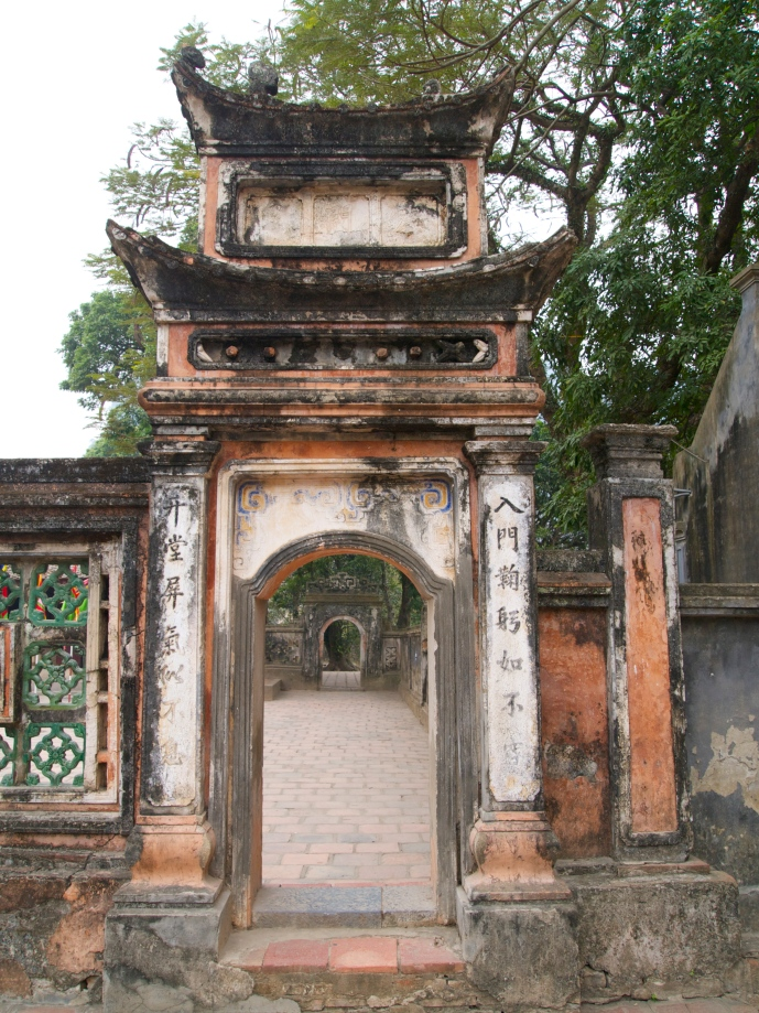 a gate at Hoa Lu