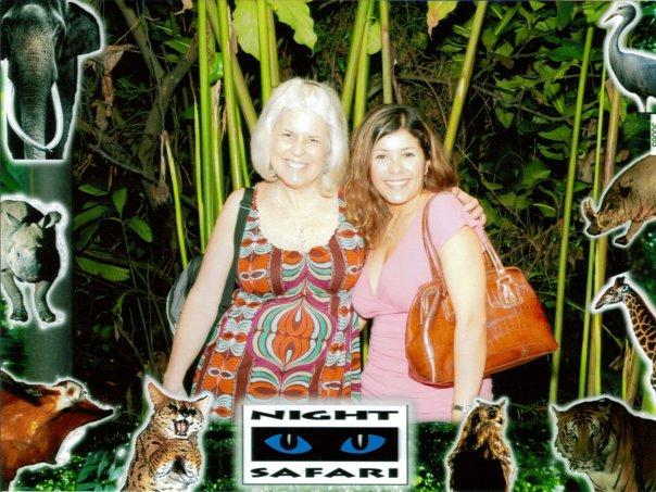 me with Johanna at the Night Safari