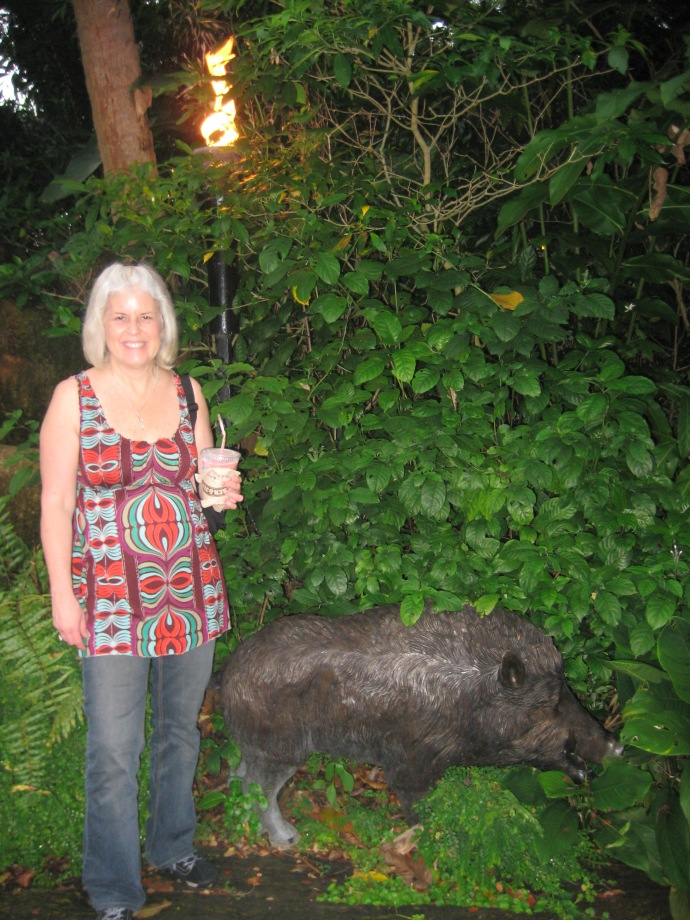 me with some kind of warthog-looking creature