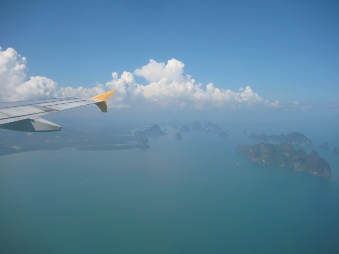 flying into Phuket