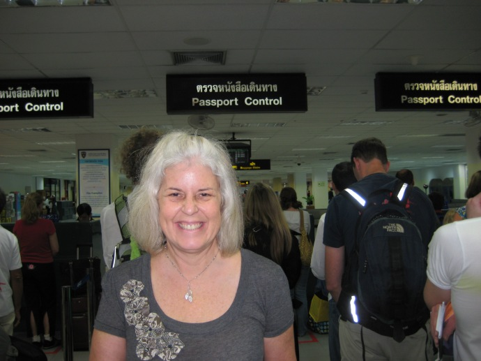 Arrival at the airport in Phuket, Thailand
