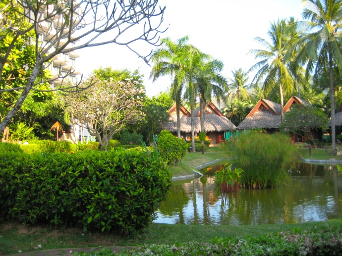 the grounds of the hotel in Phuket