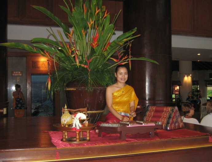 Thai music performance in the hotel
