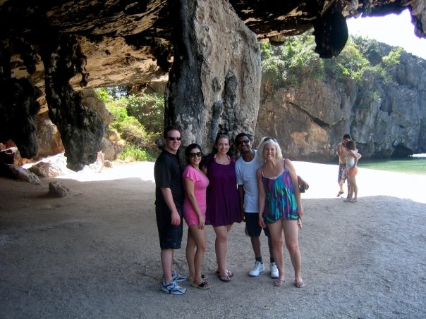 Ryan, Johanna, Jennifer, ??, and me on Tapoo Island ~ Photo by Jennifer Fox