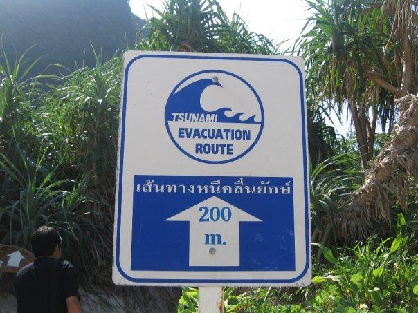 Tsunami Evacuation Route on Koh Pannyi