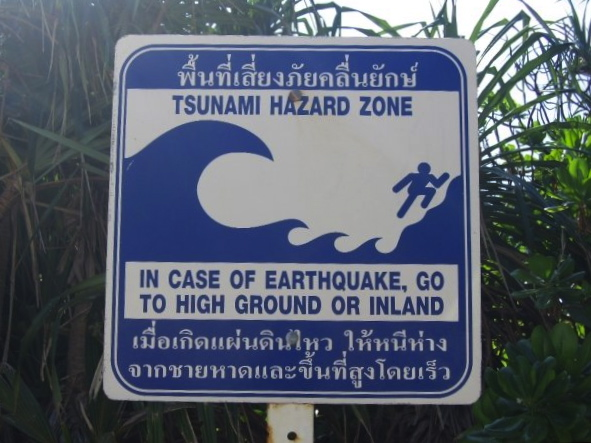 Tsunami Hazard Zone on Koh Pannyi