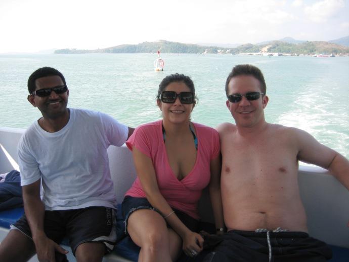 ??, Johanna and Ryan on the boat