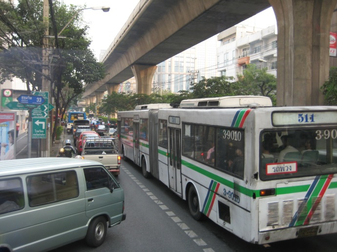 Bangkok's congested traffic