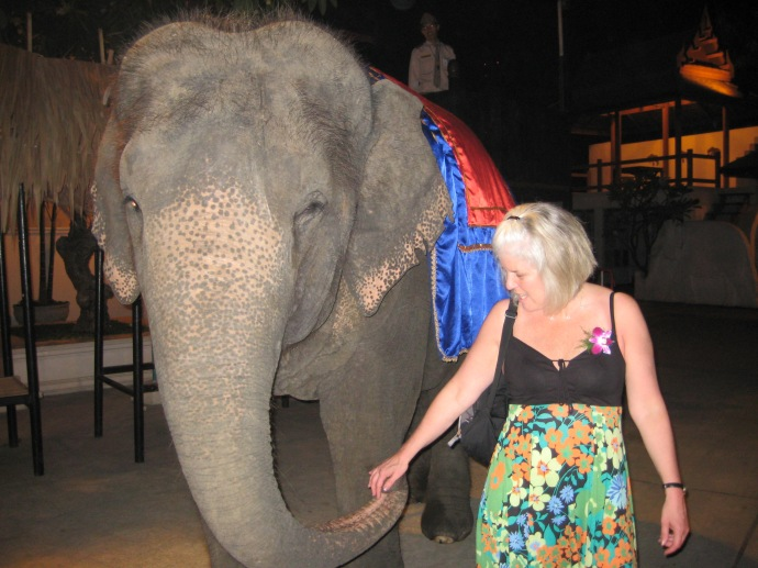 me with an elephant friend